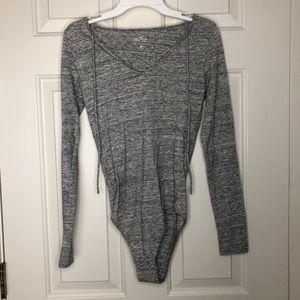 Hollister Light Gray Bodysuit